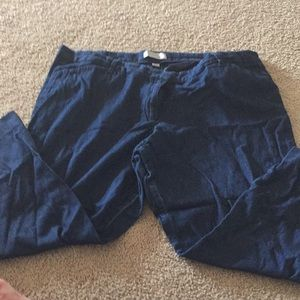 GAP denim slim fit Capris size 20